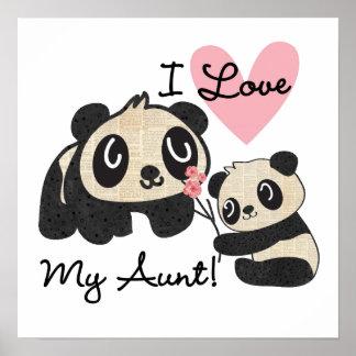 Las pandas I aman a mi tía Posters