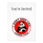 Las pandas incluso no tienen gusto de la comida ch comunicado