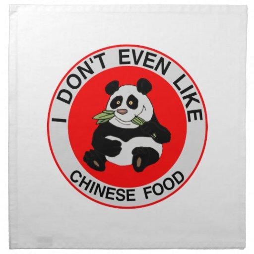 Las pandas incluso no tienen gusto de la comida ch servilleta de papel