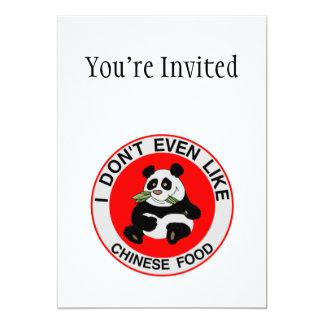 """Las pandas incluso no tienen gusto de la comida invitación 5"""" x 7"""""""