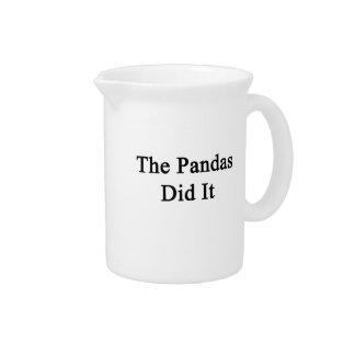 Las pandas lo hicieron jarras