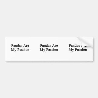 Las pandas son mi pasión pegatina de parachoque