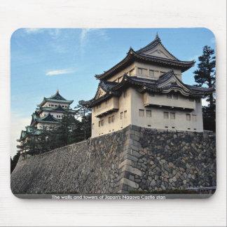 Las paredes y las torres de Nagoya de Japón se esc Alfombrilla De Ratones