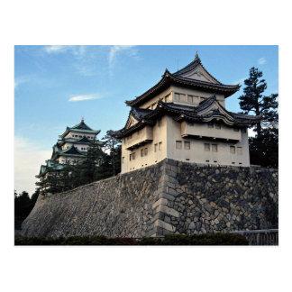 Las paredes y las torres de Nagoya de Japón se esc Tarjeta Postal