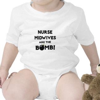¡Las parteras de la enfermera son la bomba! Trajes De Bebé