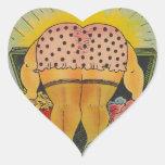 Las partes inferiores lindas de los pegatinas pegatina corazón