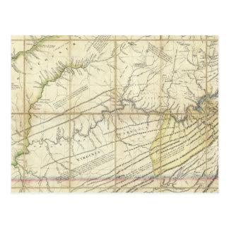 Las partes occidentales de Virginia, Pennsylvania Postales