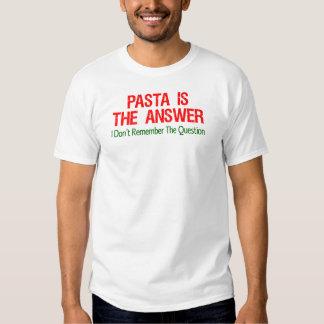 Las pastas son la respuesta camisas