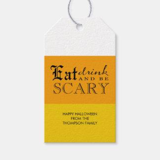 Las pastillas de caramelo Halloween sean etiquetas Etiquetas Para Regalos