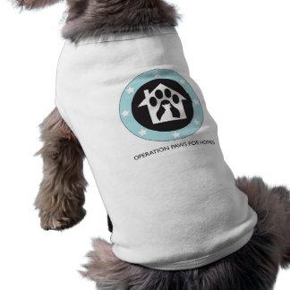 Las patas de la operación para el rescate del perr playera sin mangas para perro