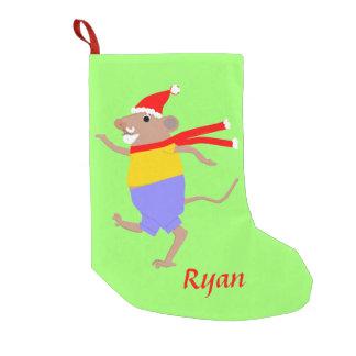 Las patas de Santa del ratón del baile, añaden Bota Navideña Pequeña