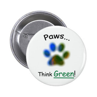 Las patas… piensan el botón verde del animal del a pin redondo de 2 pulgadas