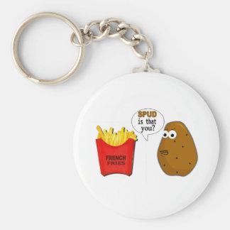¿Las patatas fritas de la patata son que usted? di Llavero Redondo Tipo Pin