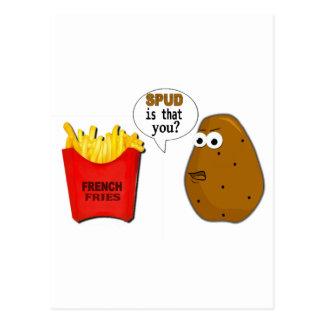 ¿Las patatas fritas de la patata son que usted? Postal