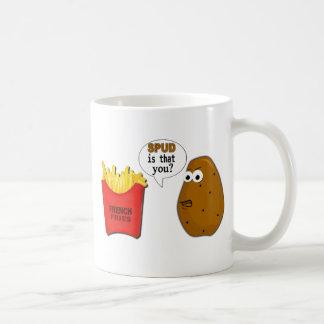 ¿Las patatas fritas de la patata son que usted? Taza De Café