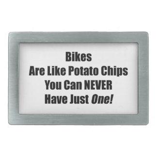 Las patatas fritas usted puede nunca tener apenas hebilla cinturon