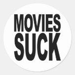 Las películas chupan pegatina redonda