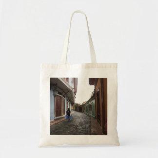 Las Penas-Water Carrier - Cobblestone Road-Ecuador Tote Bag