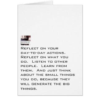 Las pequeñas cosas generan cosas grandes tarjeta pequeña