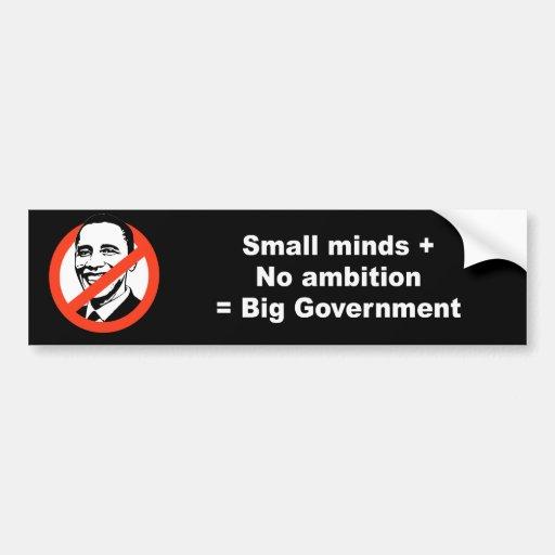 Las pequeñas mentes más ninguna ambición igualan a pegatina para auto