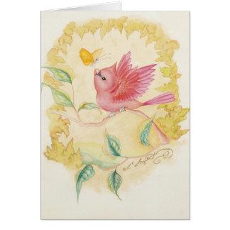 Las pequeñas tarjetas cardinales masculinas del