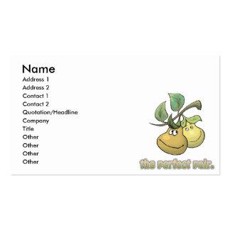 las peras perfectas de los pares tarjetas de negocios