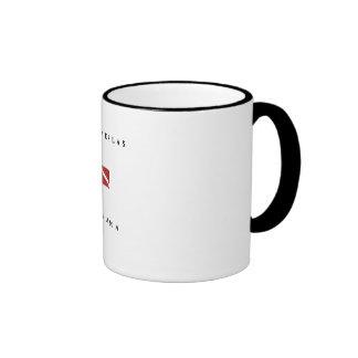 Las Perlas Panama Scuba Dive Flag Coffee Mug