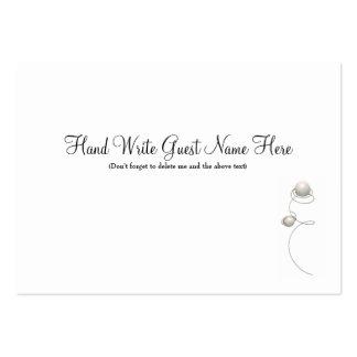 Las perlas y alambre - coloque las tarjetas plantilla de tarjeta de negocio