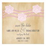 Las perlas y las flores ahorran la fecha invitan,  comunicados personales