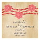 Las perlas y las flores ahorran la fecha invitan,  invitaciones personales
