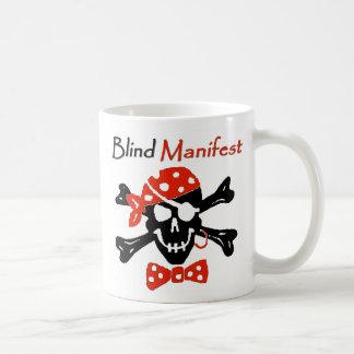 Las persianas manifiestan la taza de Coffe del