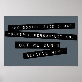 Las personalidades múltiples de I Have del doctor Póster