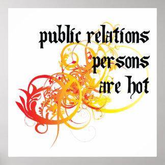 Las personas de las relaciones públicas son calien posters