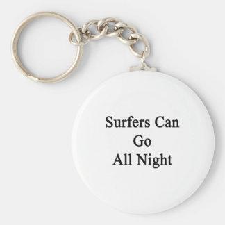 Las personas que practica surf pueden ir toda la n