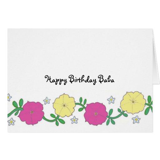 Las petunias del bizcocho borracho - bizcocho tarjeta de felicitación