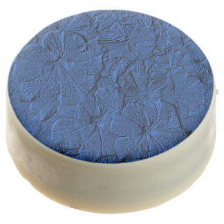 Las petunias esculpidas, chocolate azul