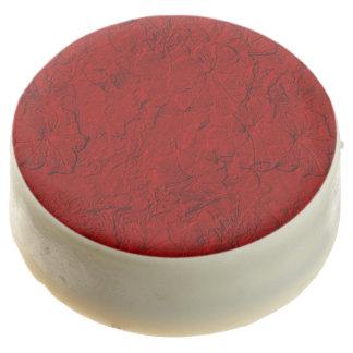 Las petunias esculpidas, chocolate rojo
