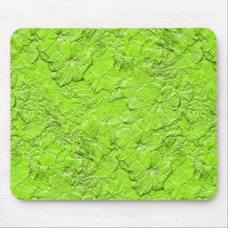 Las petunias esculpidas, saltan Mousepad verde Tapetes De Ratón