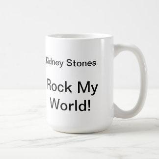¡Las piedras de riñón oscilan mi mundo Taza