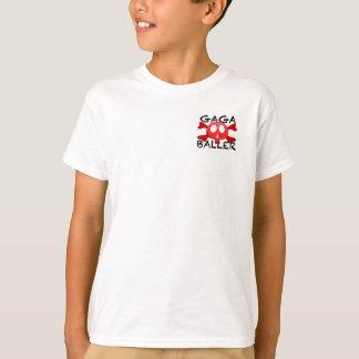 Las piernas de la camiseta del logotipo de