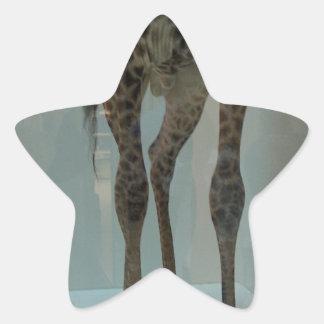 ¿Las piernas de la jirafa (la parte de leones? …) Pegatina En Forma De Estrella