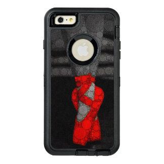 Las piernas de una bailarina en zapatos rojos del funda OtterBox defender para iPhone 6 plus