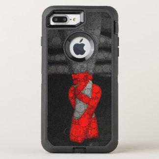 Las piernas de una bailarina en zapatos rojos del funda OtterBox defender para iPhone 7 plus