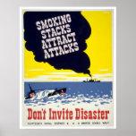 Las pilas que fuman atraen los ataques - WPA Posters
