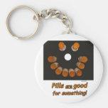 Las píldoras son buenas para algo (la sonrisa) llaveros personalizados