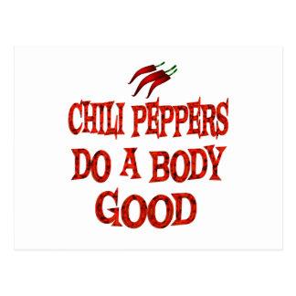 Las pimientas de chile hacen bueno tarjeta postal