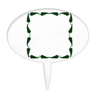 Las pimientas de chile ponen verde el extremo para figuras de tarta