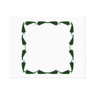 Las pimientas de chile ponen verde el extremo para impresión de lienzo