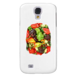 ¡Las pimientas picantes calientes diversa especie, Funda Para Galaxy S4