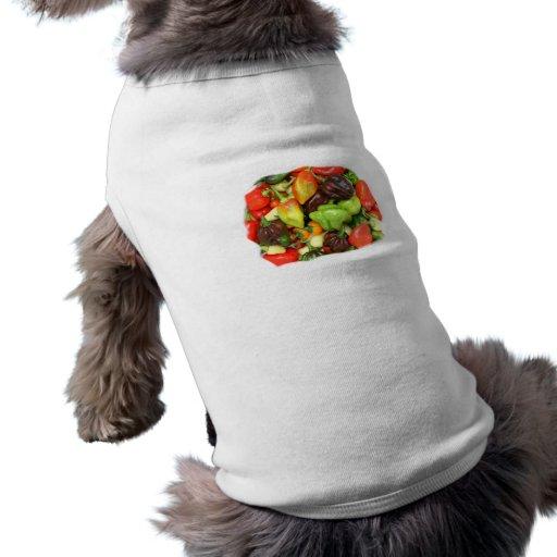 ¡Las pimientas picantes calientes diversa especie, Camiseta De Perrito